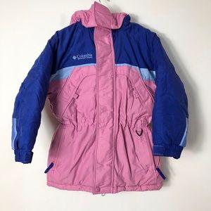 Columbia girl's vtg pink winter parka coat 6/6X